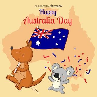 Gelukkige dag van australië