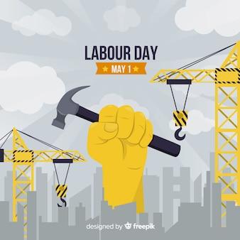 Gelukkige dag van de arbeid achtergrond
