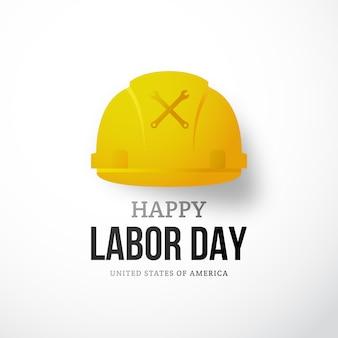 Gelukkige dag van de arbeid banner.