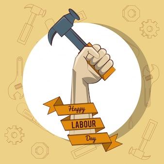 Gelukkige dag van de arbeid kaart