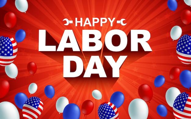 Gelukkige dag van de arbeid viering banner
