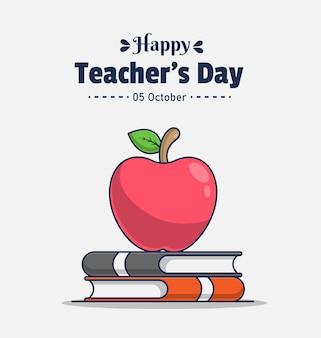 Gelukkige dag van de leraar groet pictogram illustratie