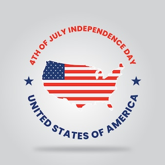 Gelukkige dag van de onafhankelijkheids de verenigde staten van amerika typografie
