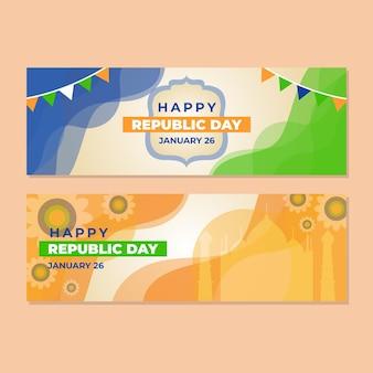 Gelukkige dag van de republiek banner