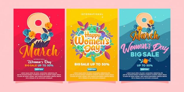 Gelukkige dagaffiches van vrouwen