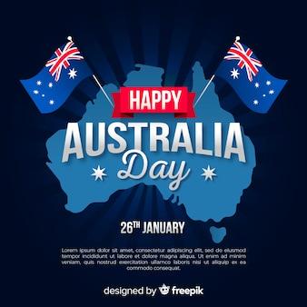 Gelukkige de daggebeurtenis van australië met vlaggen