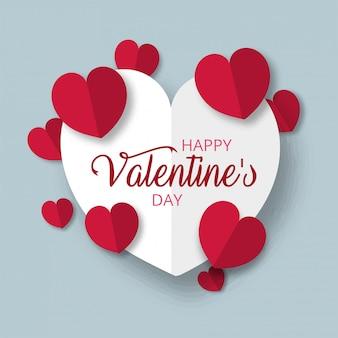 Gelukkige de daggroetkaart van valentijnskaarten, vectorillustratie. mooie liefde. - vector