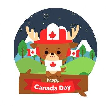 Gelukkige de dagillustratie van canada
