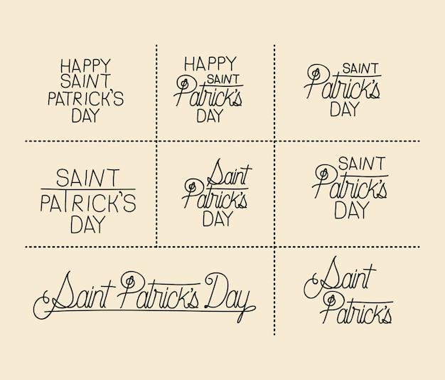 Gelukkige de dagsticker van heilige patricks