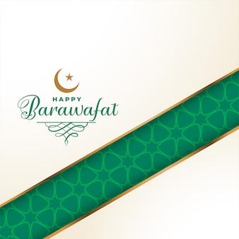 Gelukkige de groetachtergrond van het barawafatfestival