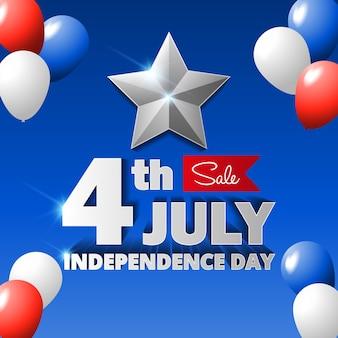 Gelukkige de onafhankelijkheidsdag van de vs, 4 van juli.