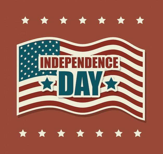 Gelukkige de onafhankelijkheidsdag van verenigde staten, 4 juli viering