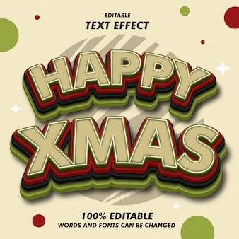 Gelukkige de teksteffecten van kerstmis