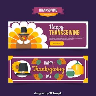 Gelukkige de thanksgiving daybanner van turkije