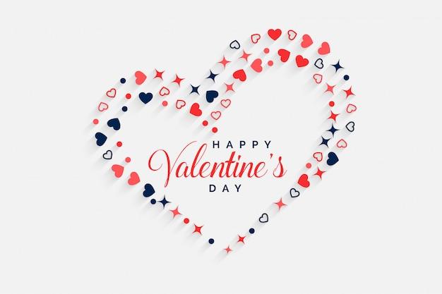 Gelukkige decoratieve de hartenachtergrond van de valentijnskaartendag