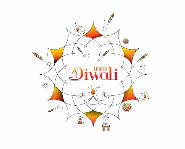 Gelukkige diwali-achtergrond, vectorillustratie.