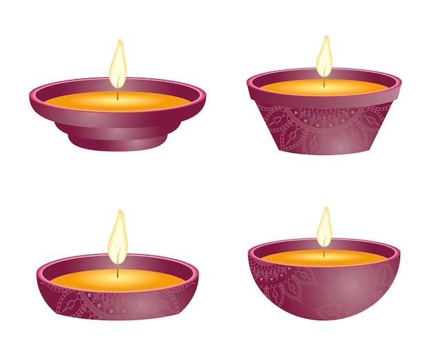 Gelukkige diwali-feestkaarsen