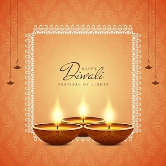 Gelukkige diwali-festival decoratieve religieuze achtergrond