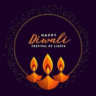 Gelukkige diwali-festivalachtergrond