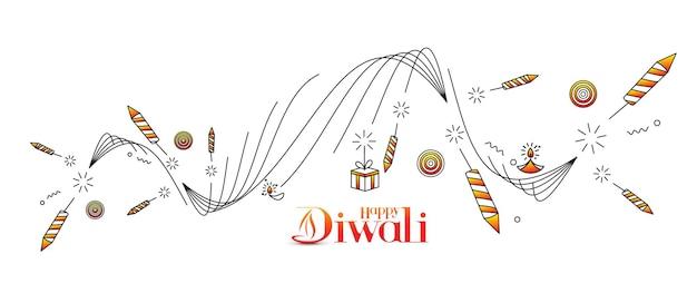 Gelukkige diwali korting verkoop banner, vectorillustratie.