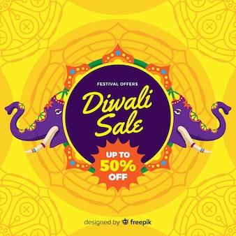 Gelukkige diwali verkoop achtergrond
