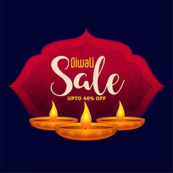 Gelukkige diwali-verkoopachtergrond