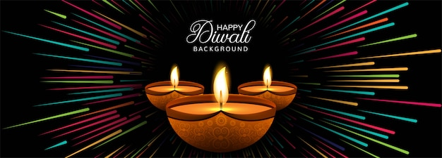 Gelukkige diwali-viering sociale media kopbal of banner