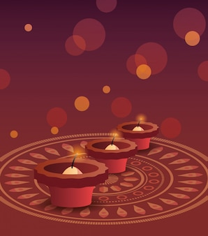 Gelukkige diwali-viering