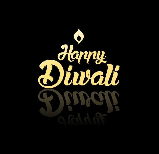 Gelukkige diwali-wenskaart voor hindoe-gemeenschap, indiase festival