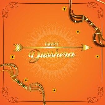 Gelukkige dussehra indian festival viering achtergrond