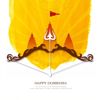 Gelukkige dussehra indiase hindoeïstische festival culturele achtergrond ontwerp vector