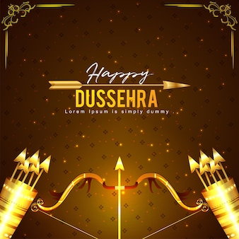 Gelukkige dussehra of vijaya dashami viering achtergrond