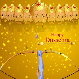 Gelukkige dussehra viering indiase festival achtergrond
