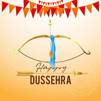 Gelukkige dussehra-vieringsachtergrond met dhanush