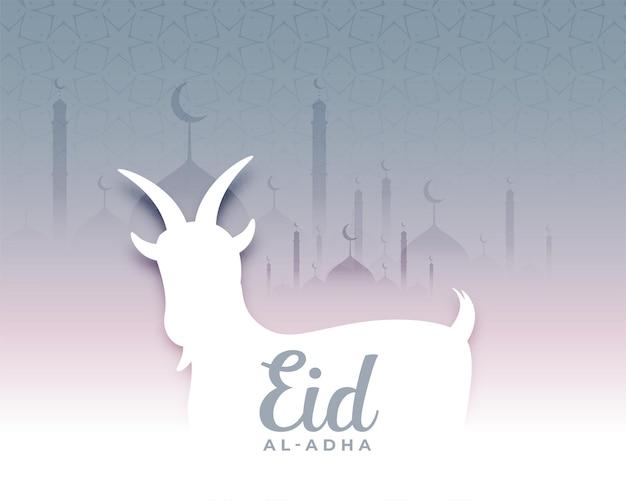 Gelukkige eid al adha-achtergrond met geit