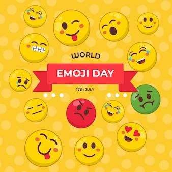 Gelukkige emoji dag ontwerpconcept