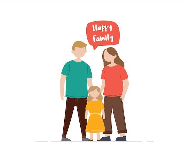 Gelukkige familie illustratie