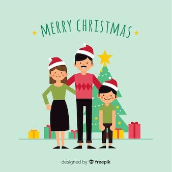 Gelukkige familie kerst achtergrond