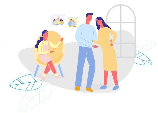 Gelukkige familie tijd doorbrengen platte cartoon thuis