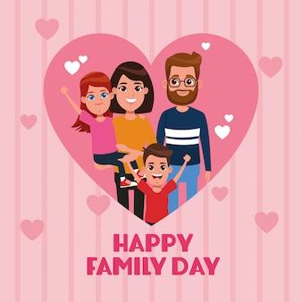 Gelukkige familiedag kaart