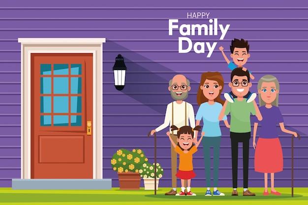 Gelukkige familiedag