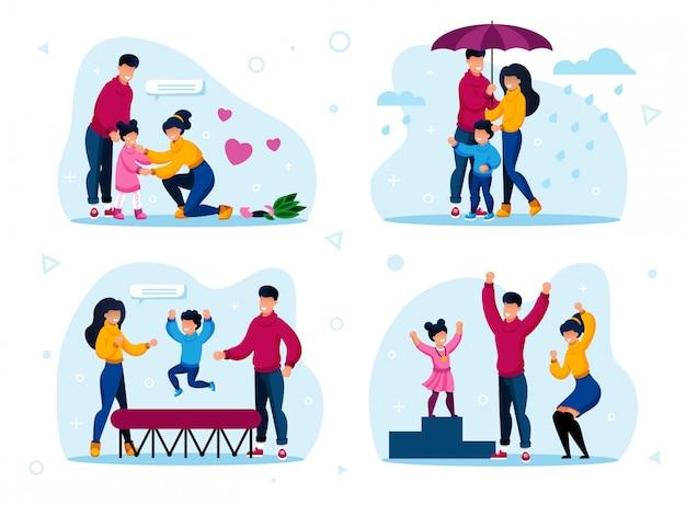 Gelukkige gezinsroutines, activiteitenconcepten