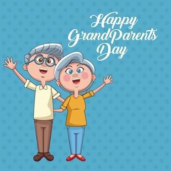 Gelukkige grootouders dag kaart