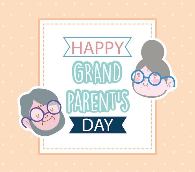 Gelukkige grootouders dag poster