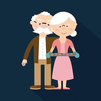 Gelukkige grootouders dag