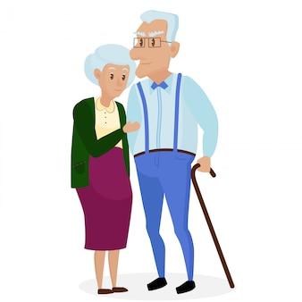 Gelukkige grootouders samen