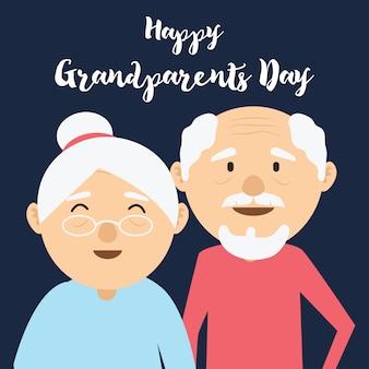 Gelukkige grootoudersdag voor ouderenconcept