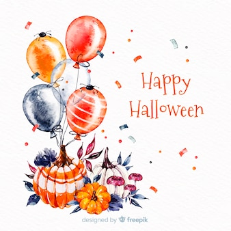 Gelukkige halloween-achtergrond met ballons