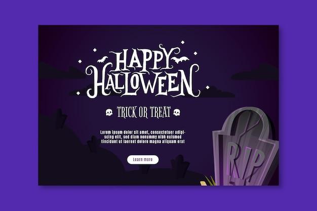 Gelukkige halloween-banner