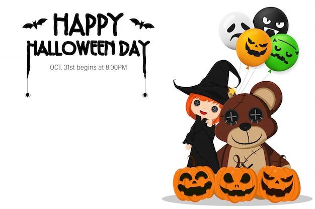 Gelukkige halloween-daguitnodiging